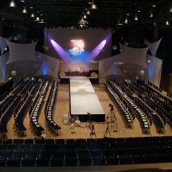 Kobayashi Hall fashion show setup